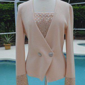 St. John Evening Paillettes Knit Sparkle Jacket